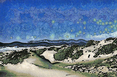 Abstract Seascape Digital Art - Sandy Beach At Guadalupe California Abstract by Barbara Snyder