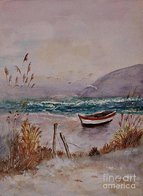 Ship Painting - Sandy Beach Boat by Marie Lewis