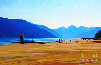 Painting - Sandy Beach by Dorinda K Skains