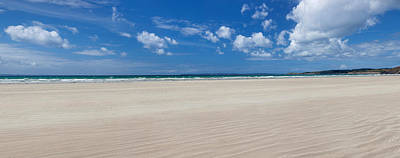 Sandy Beach, Finistere, Brittany, France Art Print