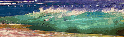 Sandy Beach Hawaii Art Print by Ron Regalado