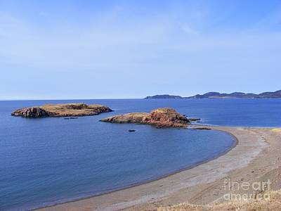Sandy Beach - Little Island - Coastline - Seascape  Art Print by Barbara Griffin