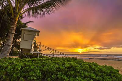Photograph - Sandy Beach Sunrise 11 by Leigh Anne Meeks