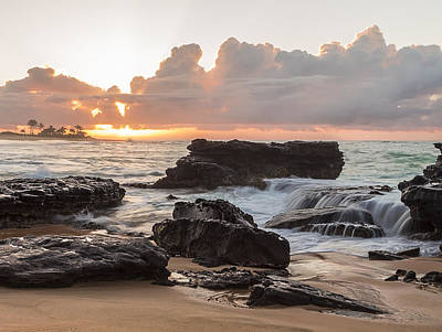 Photograph - Sandy Beach Sunrise 6 by Leigh Anne Meeks
