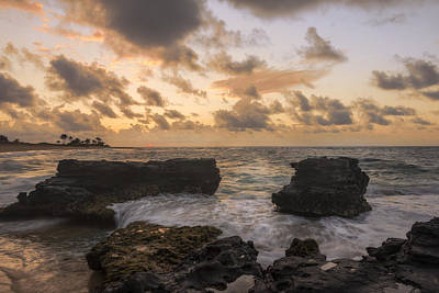 Beach Photograph - Sandy Beach Sunrise 8 - Oahu Hawaii by Brian Harig