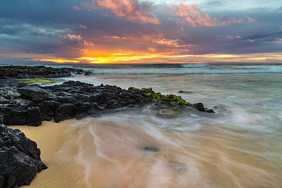 Photograph - Sandy Beach Sunrise 9 by Leigh Anne Meeks