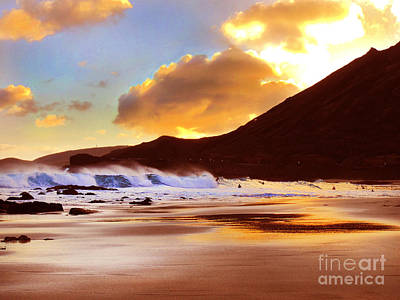 Photograph - Sandy Beach Sunset by Kristine Merc