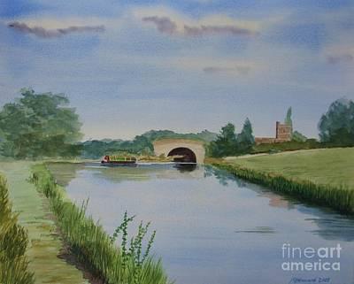 Union Bridge Painting - Sandy Bridge by Martin Howard