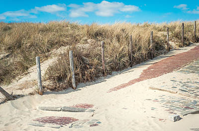Dutch Summer Photograph - Sandy Dunes In Holland by Jenny Rainbow