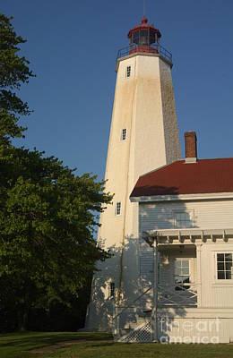 Photograph - Sandy Hook Lighthouse At Dusk by Anna Lisa Yoder