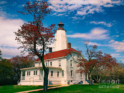 Photograph - Sandy Hook Lighthouse In Spring by Mark Miller