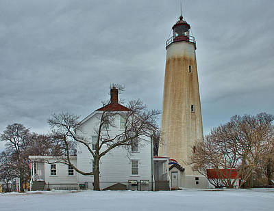 New Jersey Photograph - Sandy Hook Lighthouse In Winter by Steven Richman