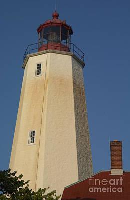 Photograph - Sandy Hook Lighthouse Tower At Dusk by Anna Lisa Yoder