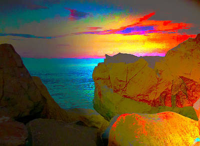 Sandy Hook Digital Art - Sandy Hook Nj Sunset by Linnea Tober