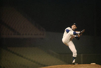 Kick Photograph - Sandy Koufax High Kick by Retro Images Archive