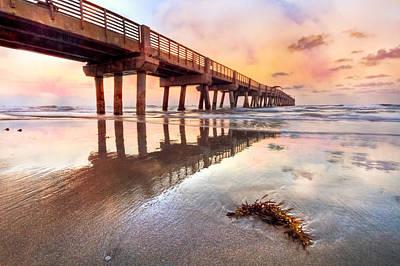 Florida Bridge Photograph - Sandy Mirror by Debra and Dave Vanderlaan