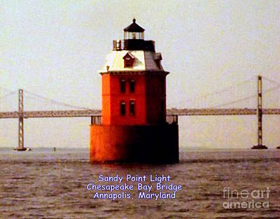 Photograph - Sandy Point Light by John Potts