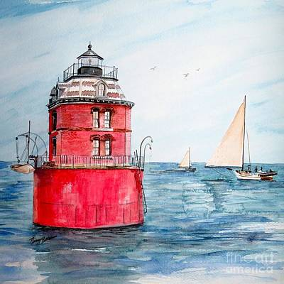 Painting - Sandy Point Lighthouse 2 by Nancy Patterson