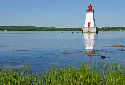 Canadian Marsh Photograph - Sandy Point Lighthouse by Georgia Fowler