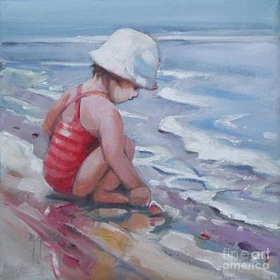 Seashells Painting - Sandy Shoreline by Mary Hubley