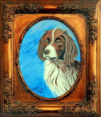 Painting - Sandy.english Springer Spaniel by Fram Cama