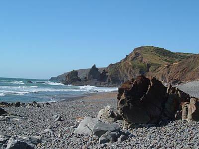 Photograph - Sandymouth North Cornwall by Richard Brookes