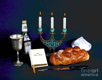 Shabbos Photograph - Sandy's Shabbos Candles by Larry Oskin
