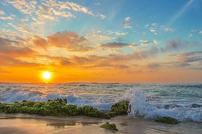 Photograph - Sandy Beach Sunrise 3 by Leigh Anne Meeks