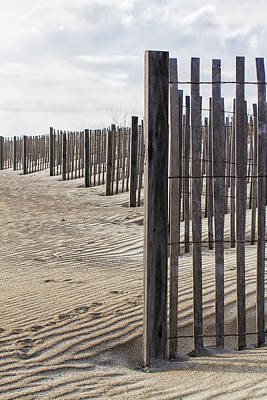 Photograph - Sand Fence by Bob Decker