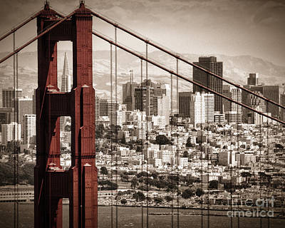 Photograph - Sanfran Custom Size by Matt  Trimble