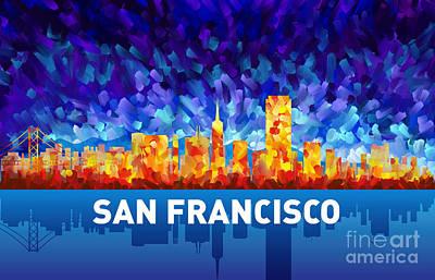 Sanfrancisco Painting - San Francisco by Tim Gilliland