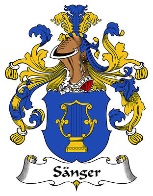 Sanger Coat Of Arms German Art Print by Heraldry