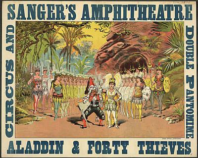 Aladdin Photograph - Sanger's Amphitheatre by British Library