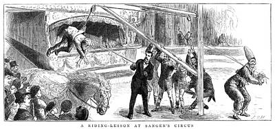Circus Clown Painting - Sanger's Circus, 1884 by Granger