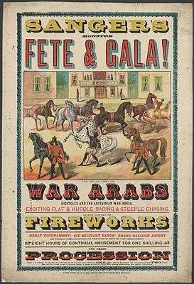 Sanger's Fete And Gala Art Print by British Library