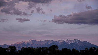 Photograph - Sangre De Cristo Mountains At Sunset by Dakota Light Photography By Dakota