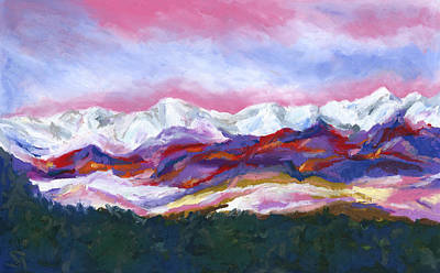 Painting - Sangre De Cristo Mountains by Stephen Anderson