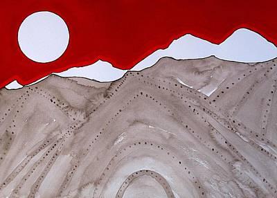 Sangre De Cristo Peaks Original Painting Art Print