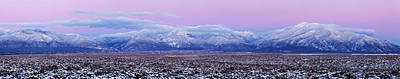 Cold Temperature Photograph - Sangre De Cristo Range After Sunset by Panoramic Images