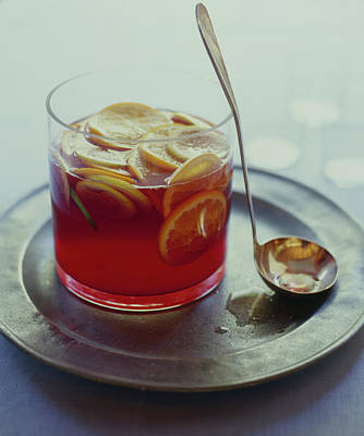 Photograph - Sangria With Citrus Fruit by Victoria Pearson