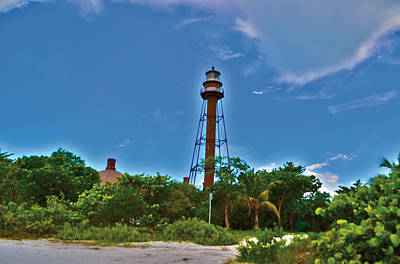 Art Print featuring the photograph Sanibel Island Lighthouse by Timothy Lowry