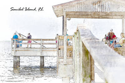 Fishing Boat Photograph - Sanibel Island Pier by J Darrell Hutto