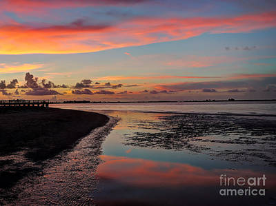 Photograph - Sanibel Island Sunset by Jeff Breiman
