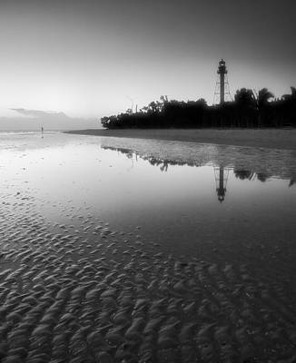 Note Card Photograph - Sanibel Lighthouse And Beach II by Steven Ainsworth