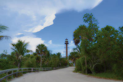 Art Print featuring the photograph Sanibel Lighthouse Road by Timothy Lowry
