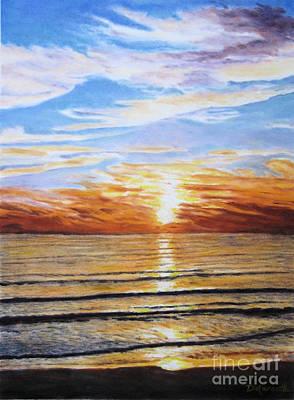 Sanibel Island Painting - Sanibel Sunset by Diane Marcotte