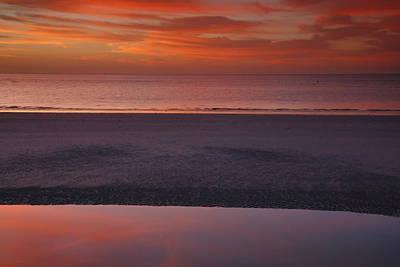 Bowmans Beach Photograph - Sanibel Sunset I by Steven Ainsworth