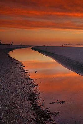 Bowmans Beach Photograph - Sanibel Sunset II by Steven Ainsworth