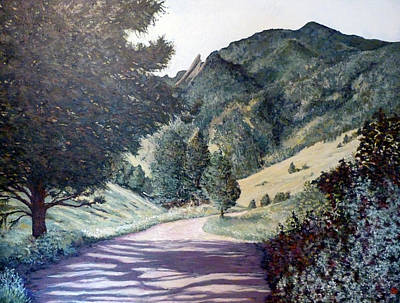Tr Painting - Sanita's Trail Boulder Colorado by Tom Roderick