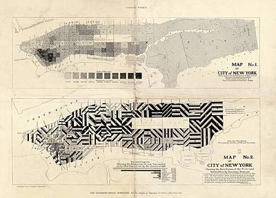 Sanitation Maps For New York City Art Print